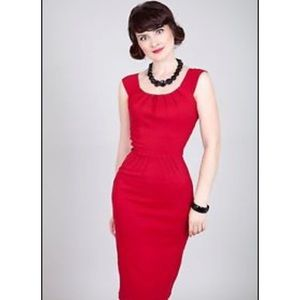 """Tatyana Bettie Page Red """"Holly"""" Pencil Dress - 2XL"""